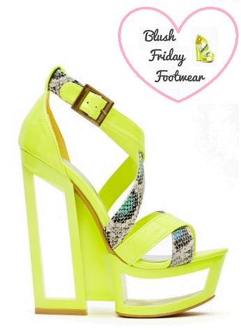 Seraphim Cutout Platform , Footwear, Fashion, Nasty Gal, Sandal, Cutout, Neon,