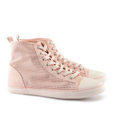 H&M, Sneakers, Pink, perforated , High Tops,