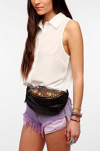 Kimchi Blue Mixed Gem Belt Bag