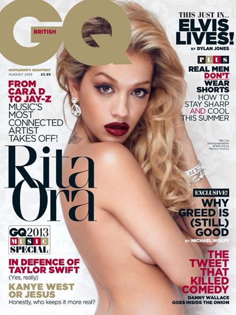 Rita Ora, GQ, British GQ, Calvin Harris, GQ Magazine , Rita Ora Topless,