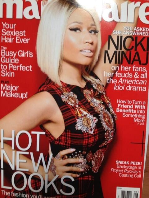 marie claire,first female rapper,special,magazine cover,nicki minaj